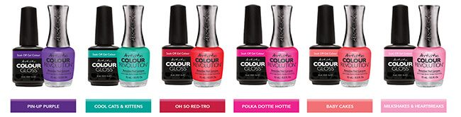 Artistic Nail Design Retro Redux Summer Collection Louella Belle Artistic Colour Gloss Artistic Colour Revolution Nail Polish Gel Polish Manicure Colour