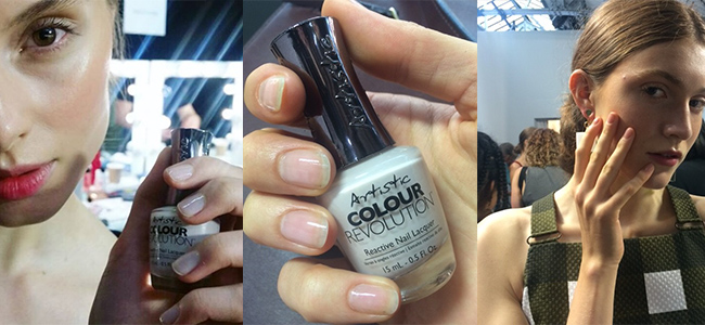 Louella Belle Artistic Nail Design Backstage London Fashion Week LFW Get The Look