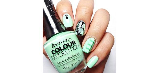 Louella Belle Artistic Nail Design Colour Gloss Urban Distressed Nail Art Design Spring