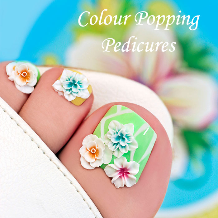 Colour Popping Pedicures