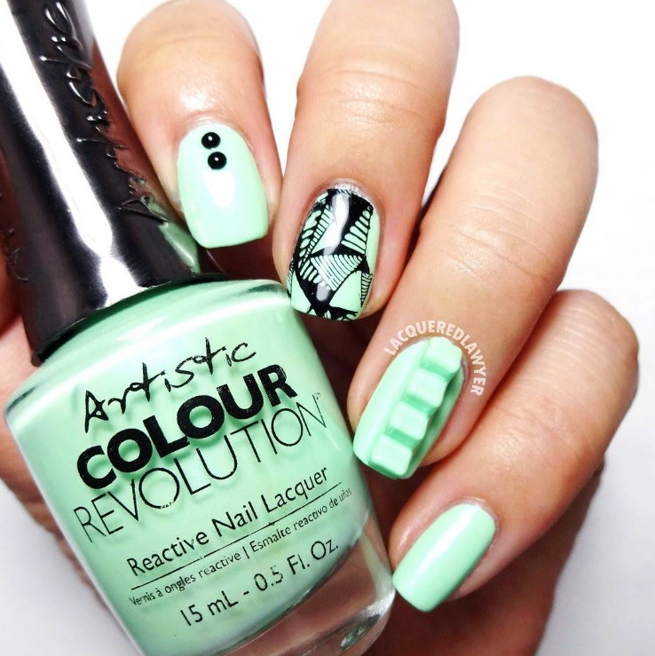 Step Into Spring With Artistic Urban Distressed Nail Art!