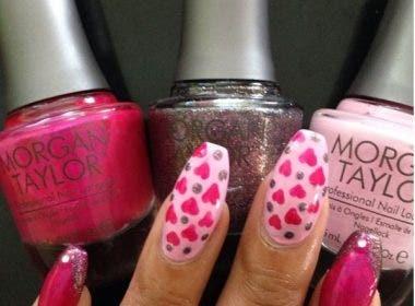 Valentine's Inspired Nail Art